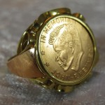 14ct JFK Memorial Ring  (4)