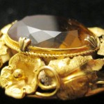 ANTIQUE 15ct GOLD & CITRINE PENDANT BROOCH IN EXCEPTIONAL CONDITION