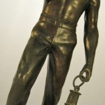 Fine Art Deco Bronze Of A Miner