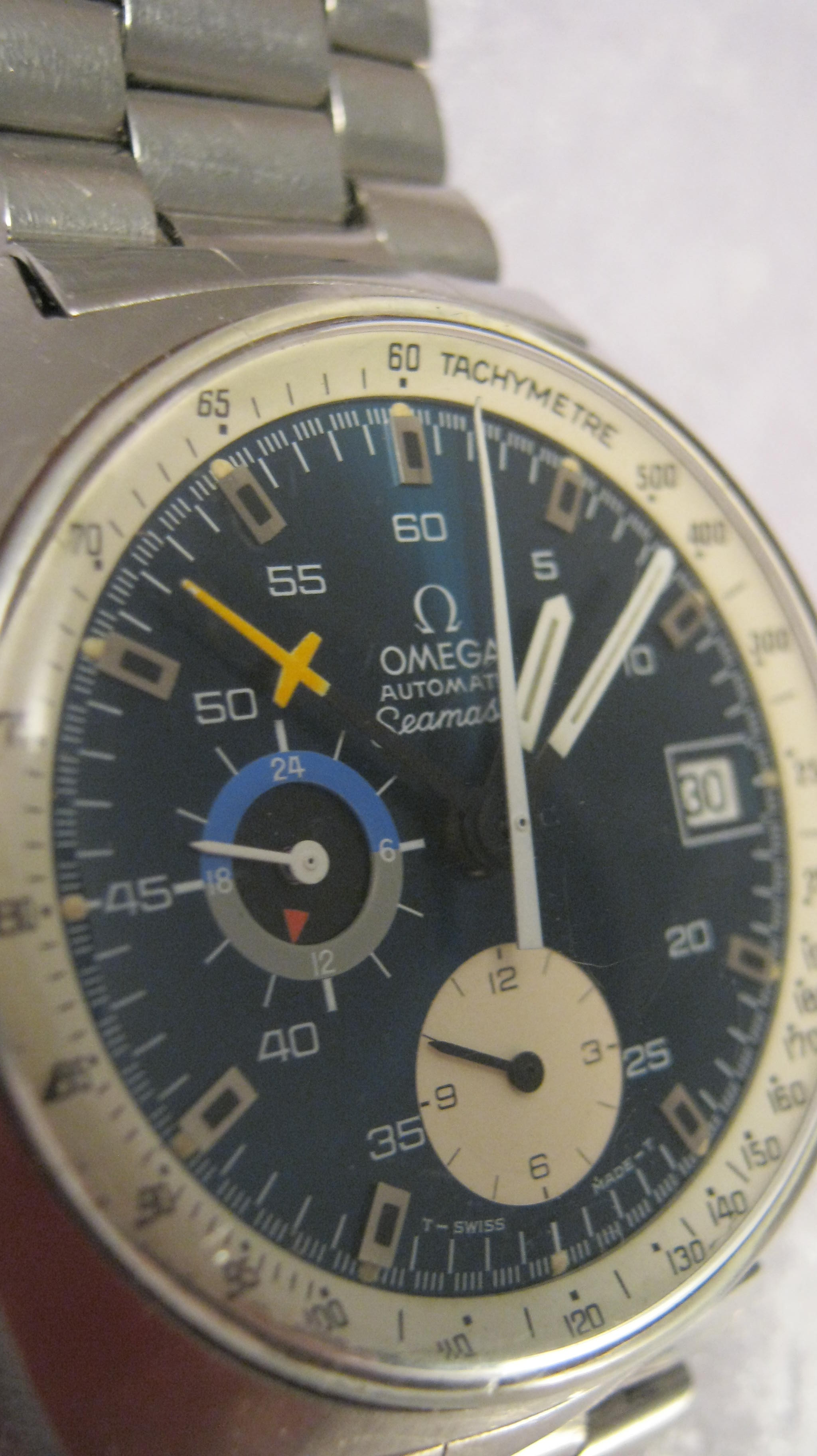 Rare vintage omega seamaster chronograph hobart town antique jewellery vintage watches for Omega watch vintage