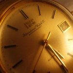 VINTAGE 18ct GOLD IWC GENT'S WRIST WATCH WITH 18ct GOLD BRACELET {285}