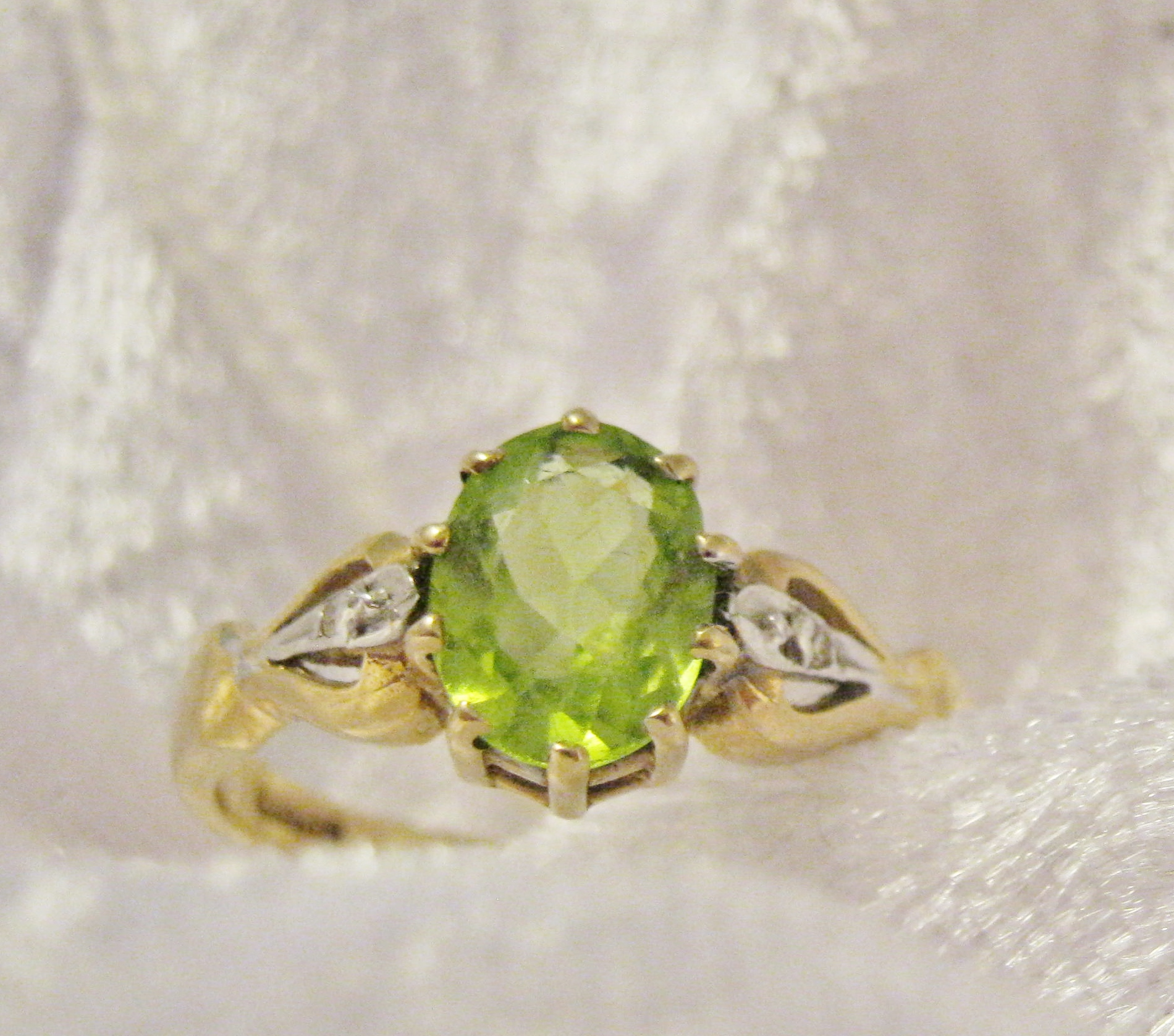 vintage peridot 9ct gold ring hobart town antique