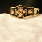 Exceptional Antique Rose Gold Mourning Ring