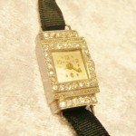 Tiffany & Co Art Deco Platinum & Diamond Ladies Watch
