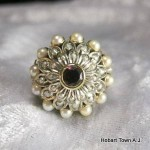 An Amazing Art Deco Hand Made Gold & Pearl Harem Ring