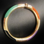 Rare Jade & Gold Art Deco Bangle