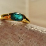 Vintage Emerald Solitaire  .65ct Aprox; Estate Ring