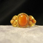 Superb Antique 15ct Gold & Coral Ring