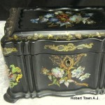 Victorian Paper Mache' Tea Caddy