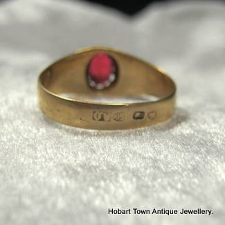 Antique Russian Ruby Amp Gold Ring Hobart Town Antique