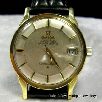 vintage omega constellation chronometer pie pan date hobart town vintage omega constellation