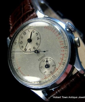 Outstanding Vintage Ernava Regulator Chronograph