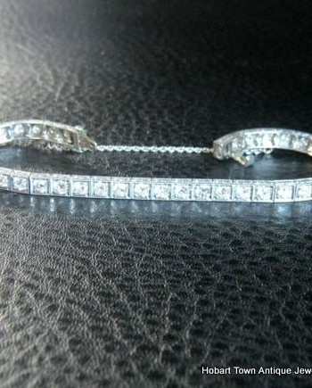 Bespoke Art Deco Diamond & Platinum Tennis ~ Line Bracelet