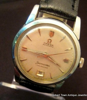 Omega Seamaster Calendar at 6 Bumper Automatic St.Steel Case 1950's