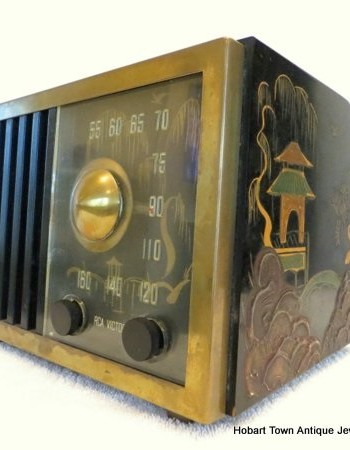 Rare Art Deco Chinoiserie Valve ~ Tube Radio Original & Working!