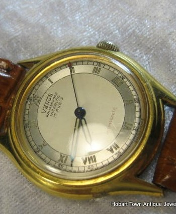 Vintage Venus 1940's Roman Numeral Military Dial Amazing Cond;