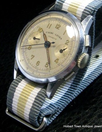 Favre Leuba Vintage Chronograph c1950 in outstanding original condition