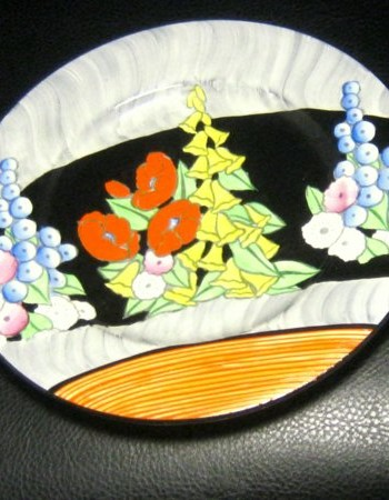 Rare Outstanding Carlton Ware Herbaceous Border Hand Painted Wall Plate