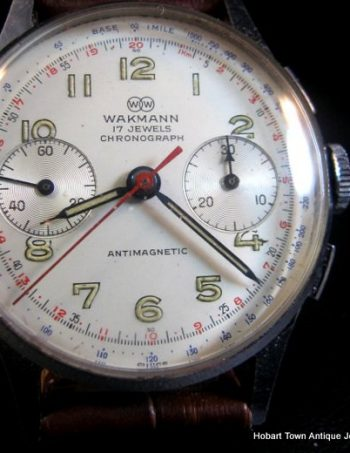 Wakmann Britix Breitling 1950's Chronograph All Original Gents Watch Landeron 248