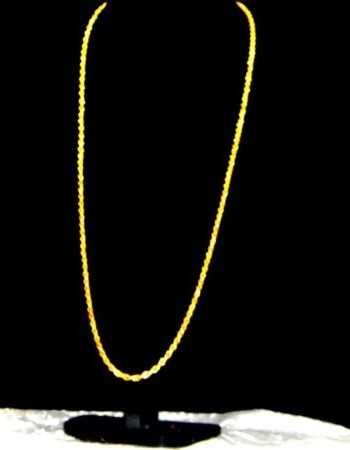 Attractive Long Gold Chain 76cm's ~ 30in ~ 2.5FT ~ 9ct Gold 'Rope Link'