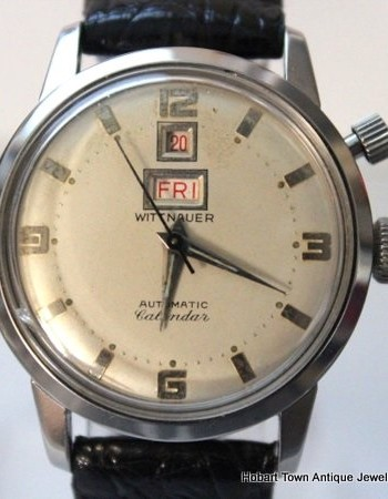 Seriously Rare Wittnauer Longines Automatic Calendar Day Date c1950's
