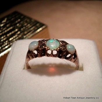 antique opal gold ring uk origin