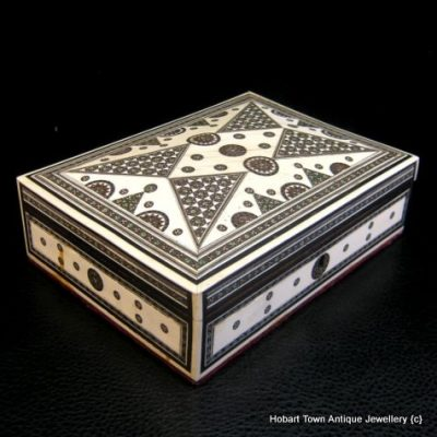 Fine Original Antique Anglo Indian Sadeli Ivory Work Box