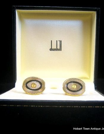 Fine Vintage Dunhill Cufflinks , Boxed
