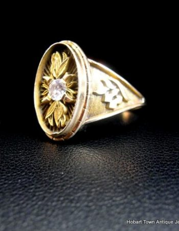 Vintage Handmade 14ct Gold Diamond Designer Ring