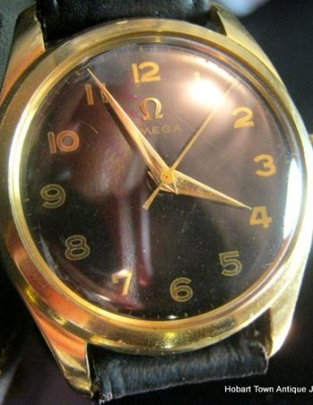 Super Rare Omega 420Cal Anti Magnetic Cover 14ct Gold Case