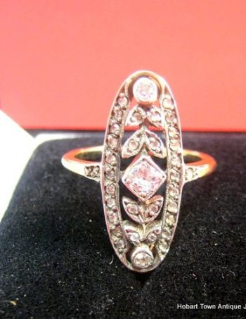 Stunning belle époque Diamond Antique 18ct Gold Edwardian Ring