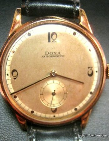 Handsome Doxa 1940's Over Sized Gent's Anti Magnetic Vintage Watch