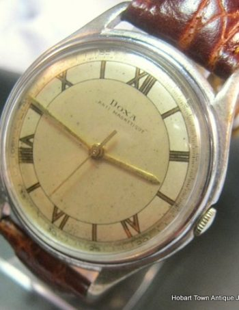 Vintage Doxa Oversize Antimagnetic ww2 Manual 37 mm Gents Watch