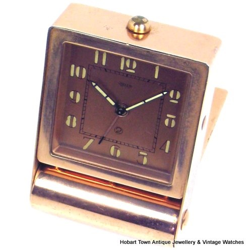 Fantastic Jaeger LeCoultre Art Deco Alarm Travel Clock All Original