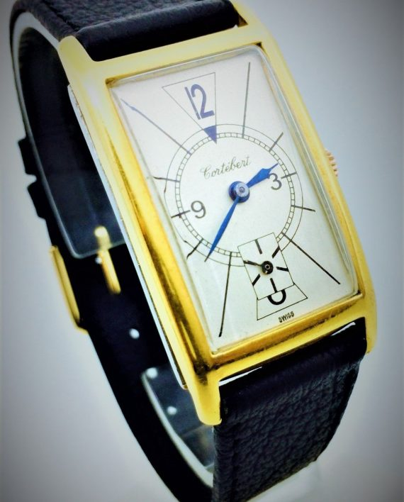Art Deco Tank Rectangular Style CORTEBERT Original Vintage Watch