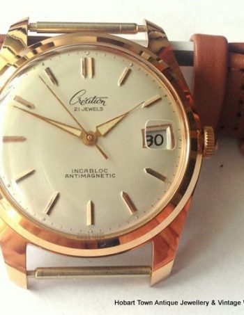 Handsome 1960's Swiss Creation 35m Absolute Mint Gents Watch