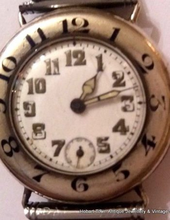 Amazing Early Vintage Trench Style Quality Swiss Gents Watch c1923
