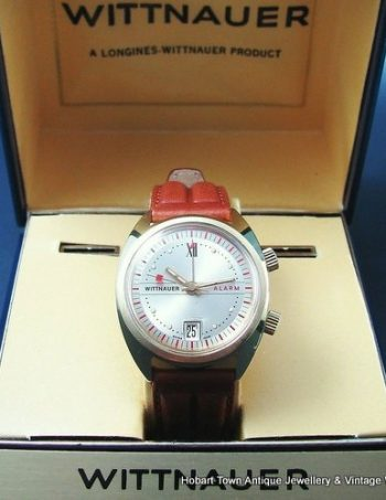 Fantastic Longines Wittnauer Retro Alarm Date Dble Boxed Mint Watch