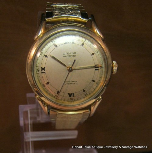 Outstanding Eterna 1940's Military Style Automatic Gents Stunning 35m Watch