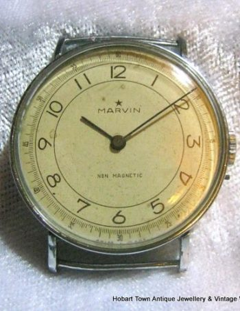 Ultra Rare 1920's Marvin Military Over Size Pin Set Watch