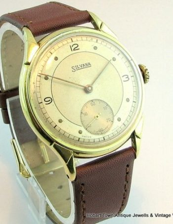Fine 1950's Silvana 2Tone Dial A'Schilds Army Movement Swiss Watch