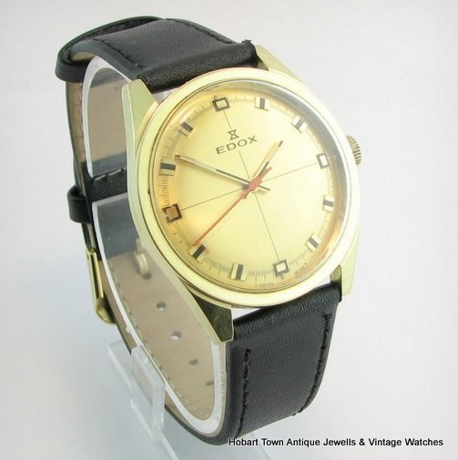 Fine EDOX Original Retro Dial 34m c1968 Gents Watch