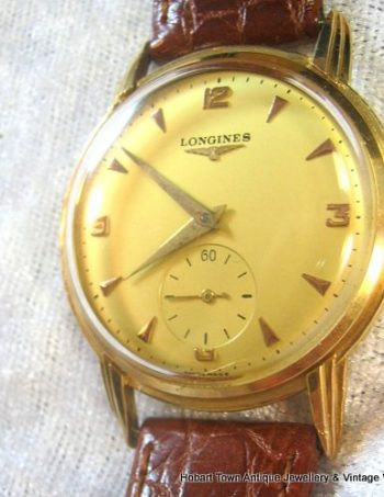 Fine Vintage Longines Over Size 18ct Rose Gold Gents Watch