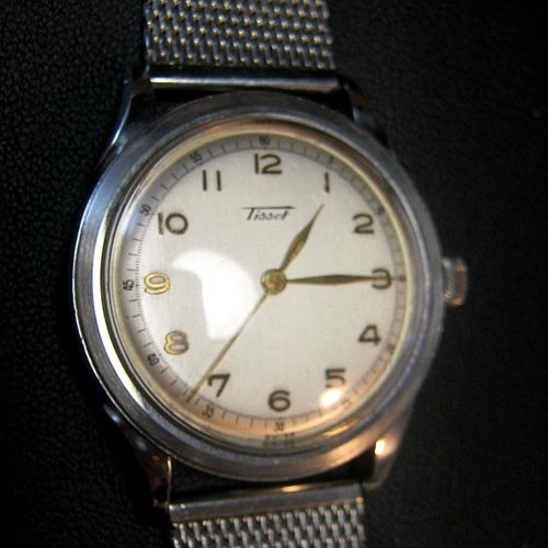 Outstanding Omega ~ Tissot St'Steel 1940's Gent's Mint Watch