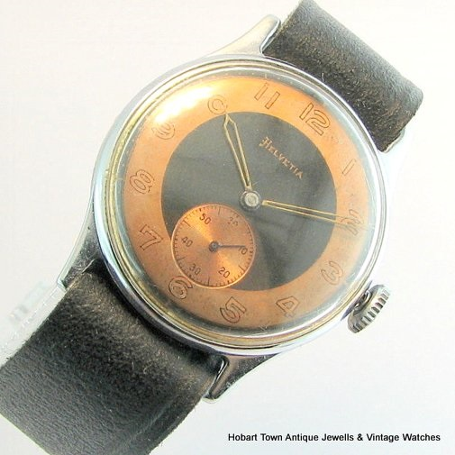 Stunning Original Omega Owned HELVETIA Classic 1940's Vintage Watch