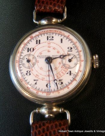 Museum Grade Eberhard National Watch Geneve Chronograph c1920