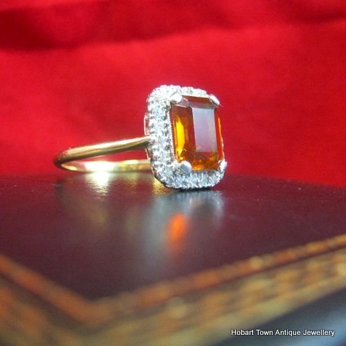 diamond citrine and ring
