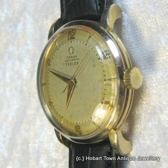Vintage Omega Bumper with Turler Dial Turler Papers watch c1949