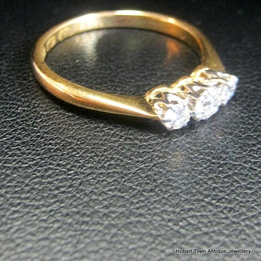 Antique Engagement Ring 22ct Gold Uk C1868