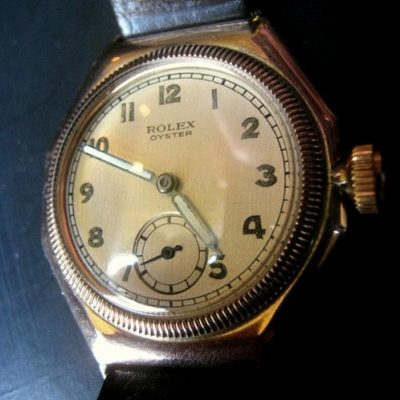 Rare Vintage 9ct Gold Rolex Oyster Octagonal Case